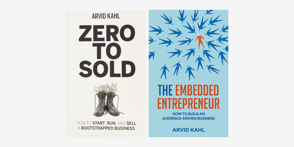 After selling his SaaS business to SureSwift, Arvid Kahl released two books for bootstrapped founders.
