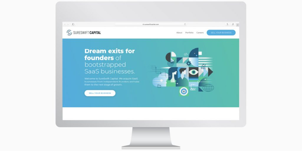 The SureSwift Capital website makes it easier for SaaS founders to connect with us.