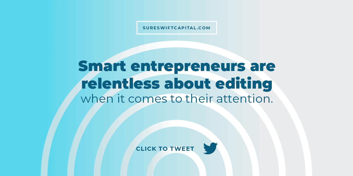 Smart entrepreneurs are relentless about editing when it comes to their attention. These app developers were running two successful SaaS startups when they decided to sell one.