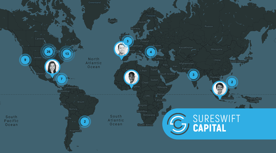 SureSwift Capital has 80+ people working across 14 time zones to run and grow our 30+ businesses.