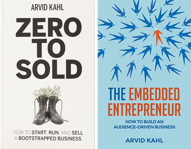 best books for entrepreneurs - Zero to Sold and The Embedded Entrepreneur by Arvid Kahl