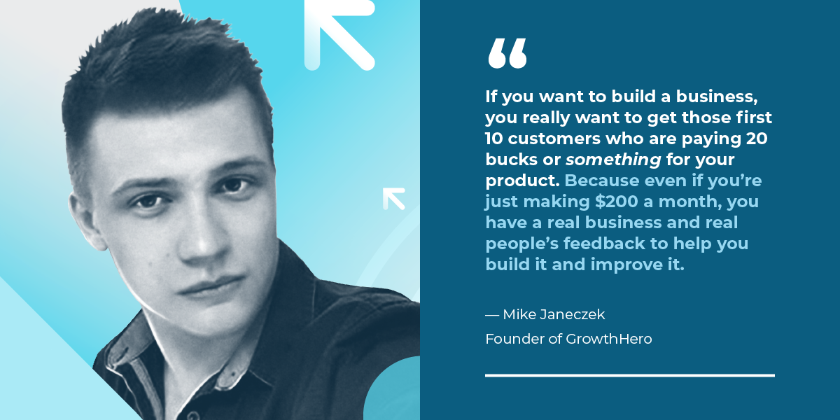 GrowthHero Founder, Mike Janeczek shares his story of growing and selling his Shopify app in just two years